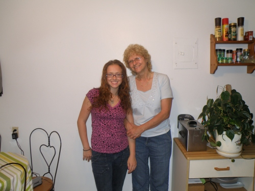 My mom and I, the day I left for Japan.