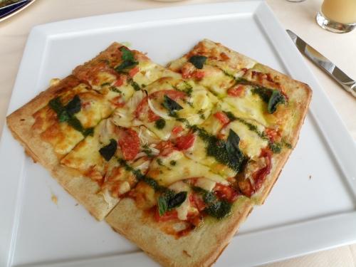 My pizza was shaped like a heart!