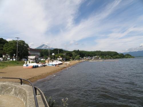 Lake Inawashiro and perfect clouds