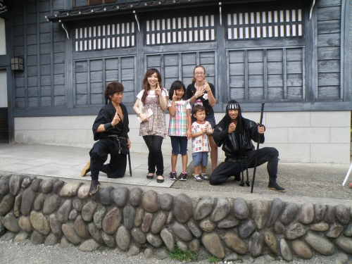 Ninjas! At Edo Wonderland in Nikko.