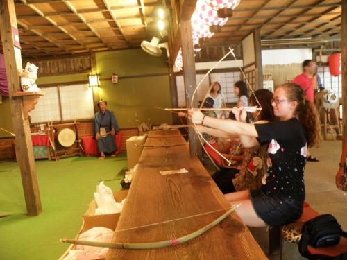 Archery at Edo Wonderland in Nikko....I'm terrible!