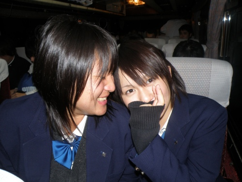 Two of my very best friends at school; Ayaka and Akane.
