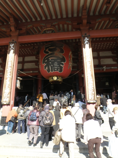 There's always a ridiculous amount of people at Sensoji...except very late at night and very early morning. Both times are incredibly calm and peaceful.